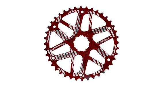 e*thirteen Extended Range Kaseta rowerowa 10-rzędowe 42 zęby do Shimano czerwony/biały